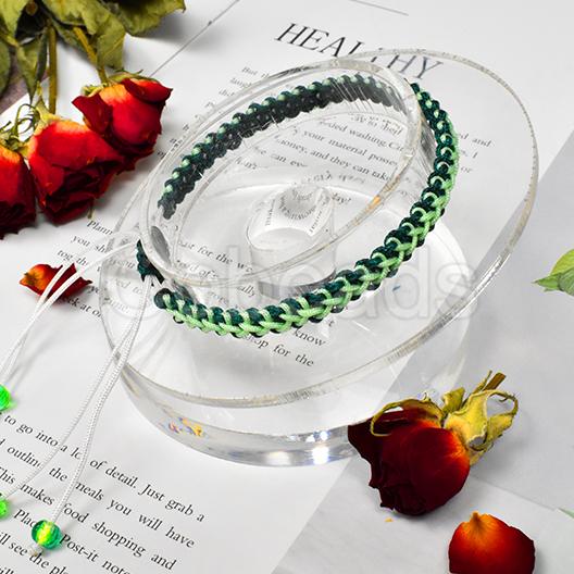 Tutorial on Green Braided Rope Bracelet