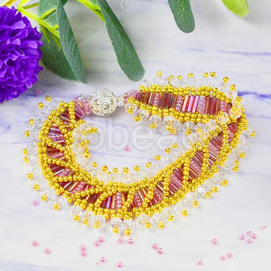 Jewelry Project on Purple Beaded Bracelet