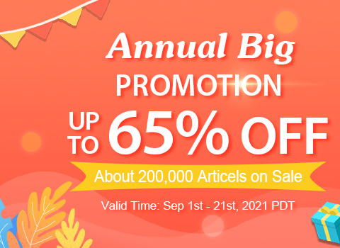Annual Big Promotion Up to 65% OFF