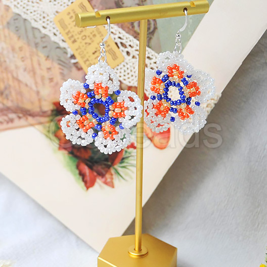 Cobeads DIY on Flower Beaded Earrings